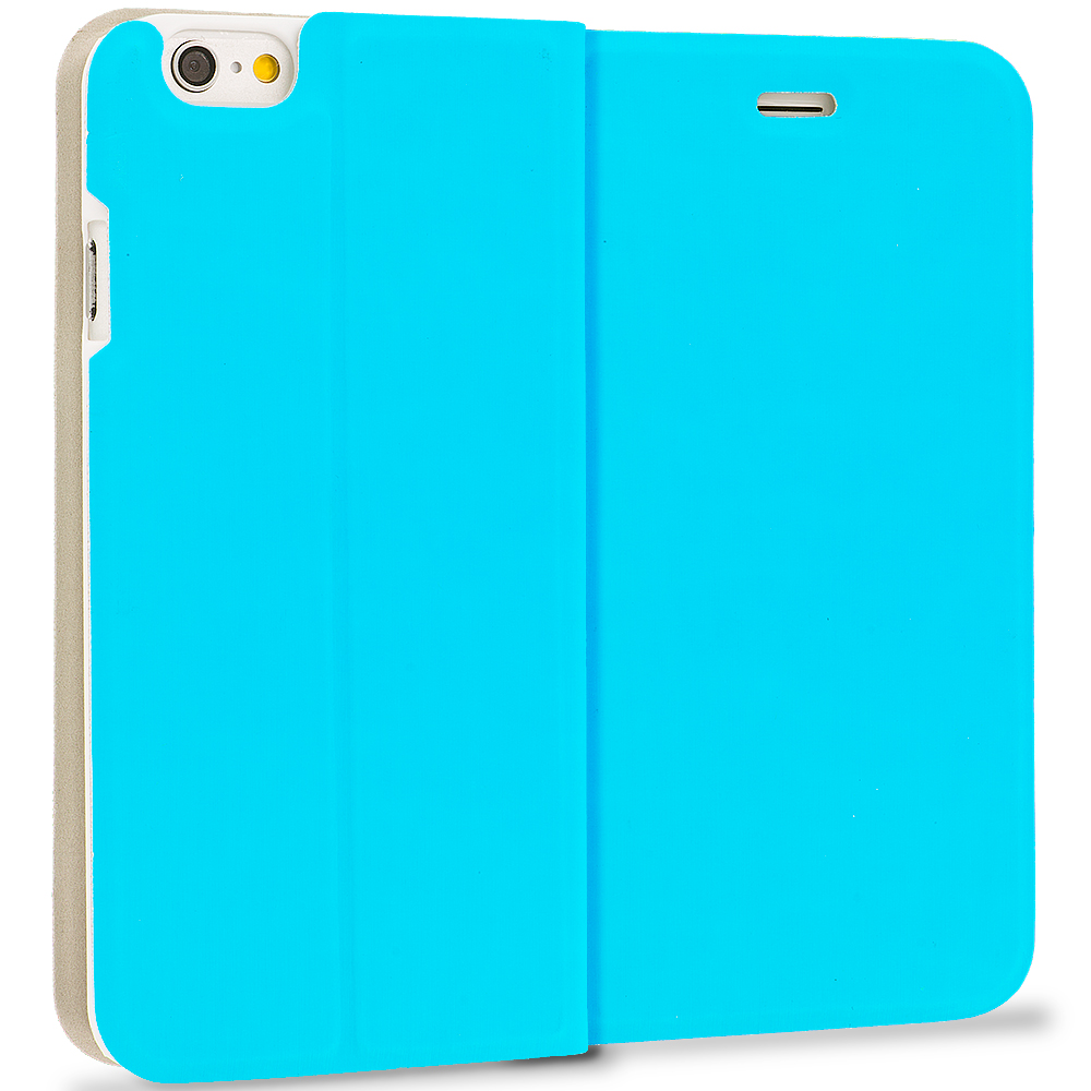Apple iPhone 6 Plus 6S Plus (5.5) Teal Slim Flip Wallet Case Cover