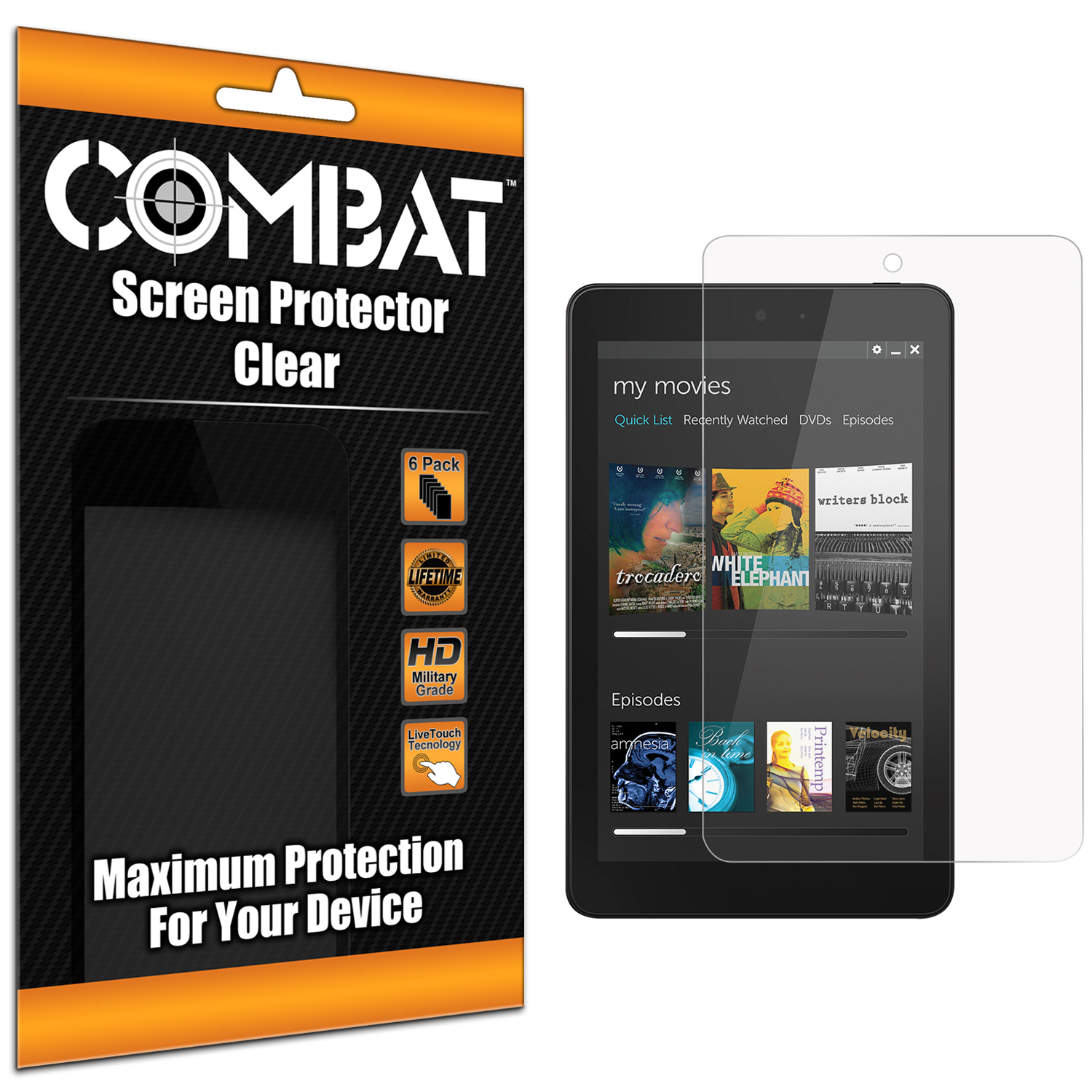 Dell Venue 8 2014 Clear Combat 6 Pack HD Clear Screen Protector