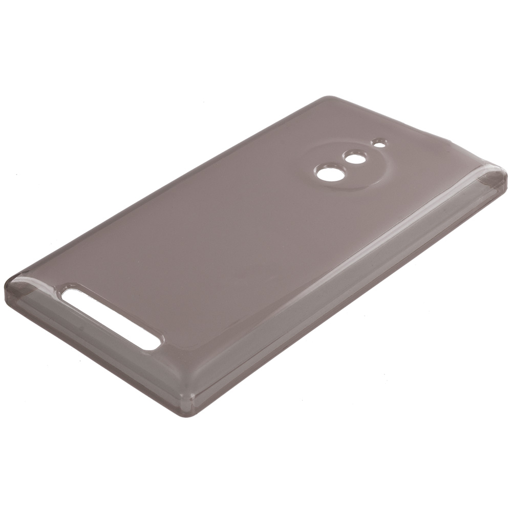 Nokia Lumia 830 Smoke TPU Rubber Skin Case Cover