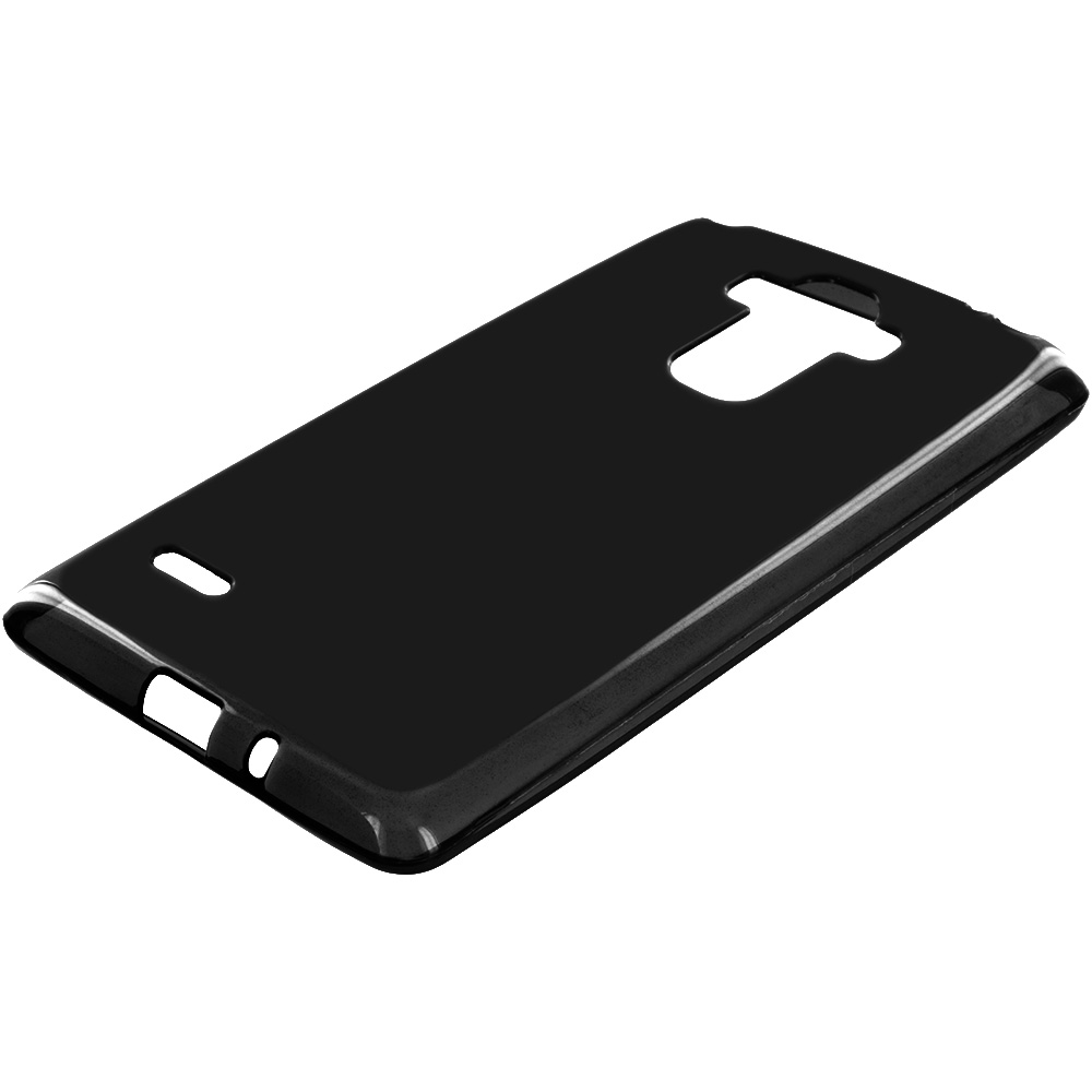 LG G Stylo Black TPU Rubber Skin Case Cover