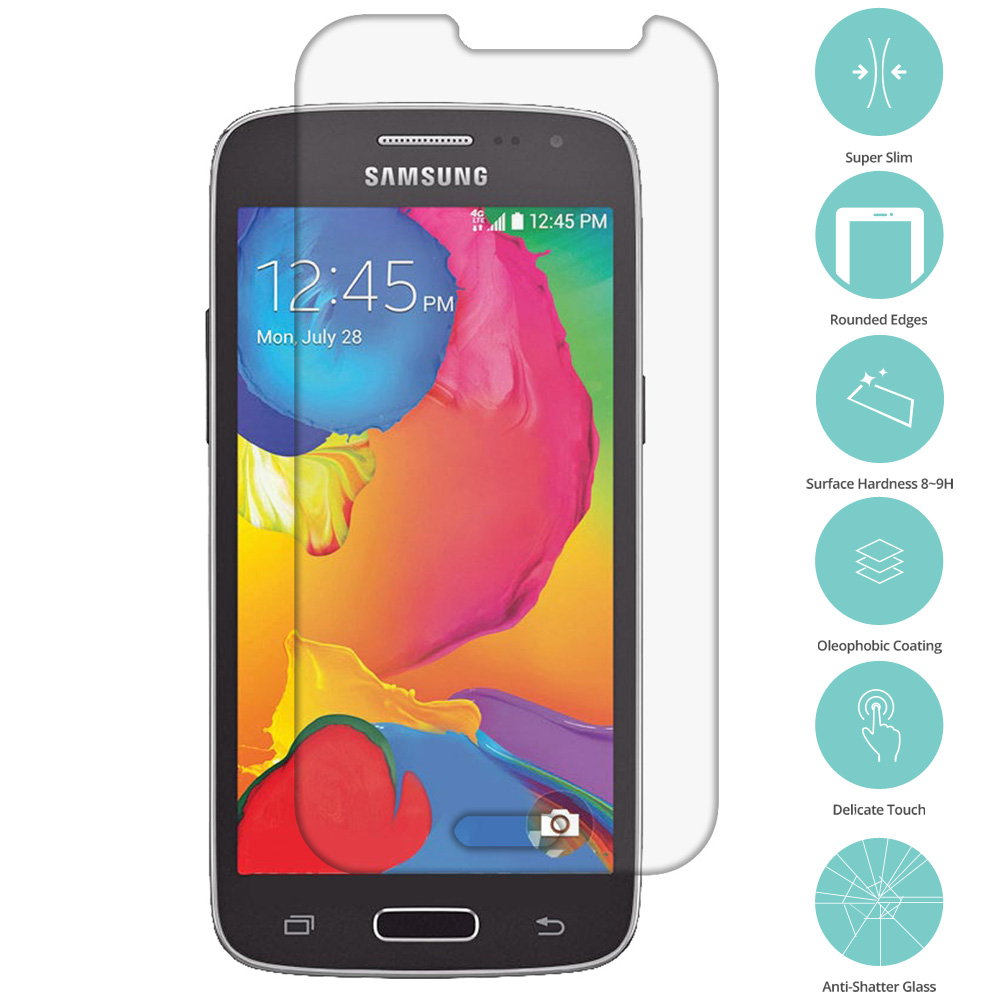 Samsung Galaxy Avant G386 Clear Tempered Glass Film Screen Protector Clear