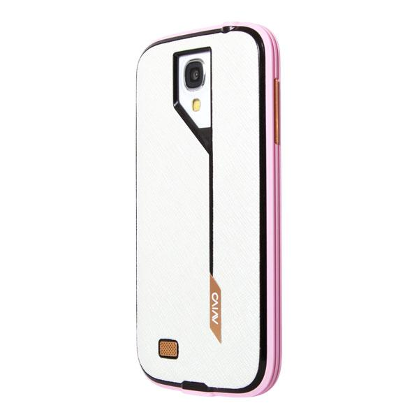 Samsung Galaxy S4 Avivo Pink Frame and White Hatch Jacket Case