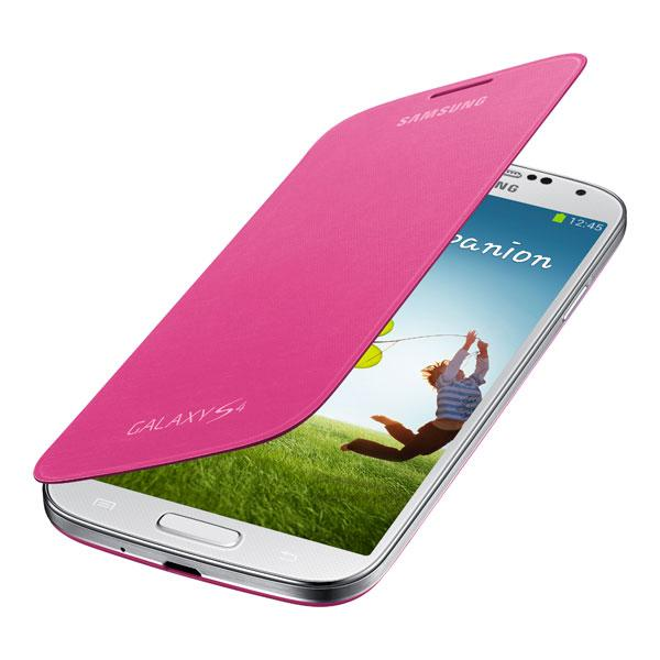 Galaxy S4 - Pink Samsung Flip Cover
