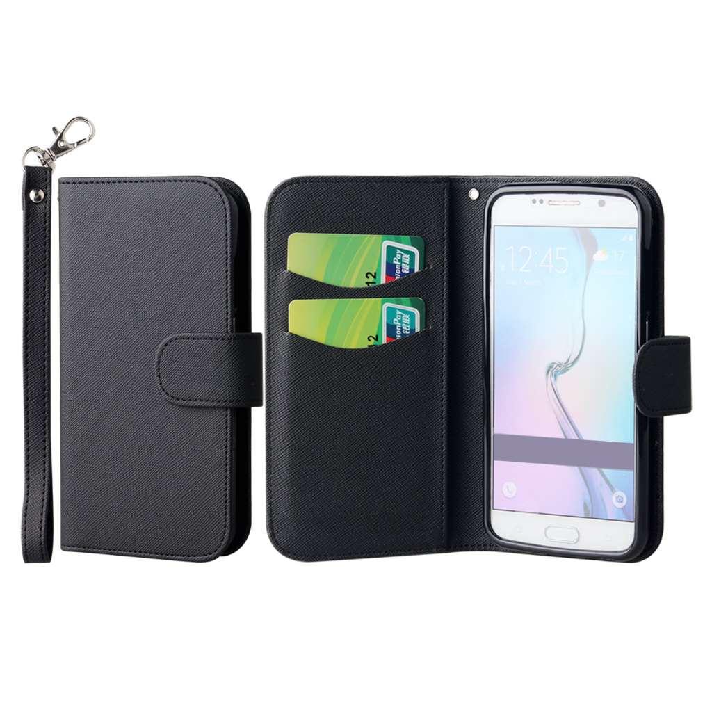 Samsung Galaxy S6 - Black MPERO FLEX FLIP Wallet Case Cover