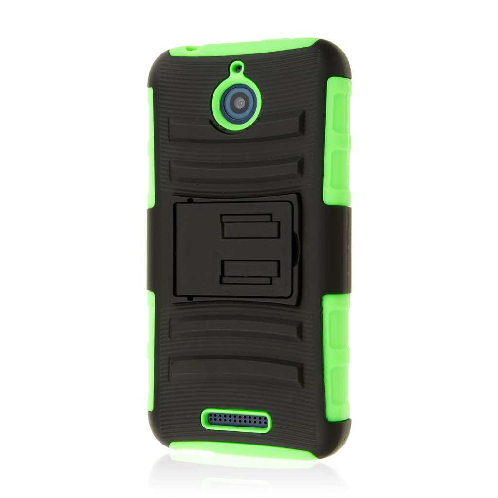 HTC Desire 510 512 - Neon Green MPERO IMPACT XT - Kickstand Case Cover