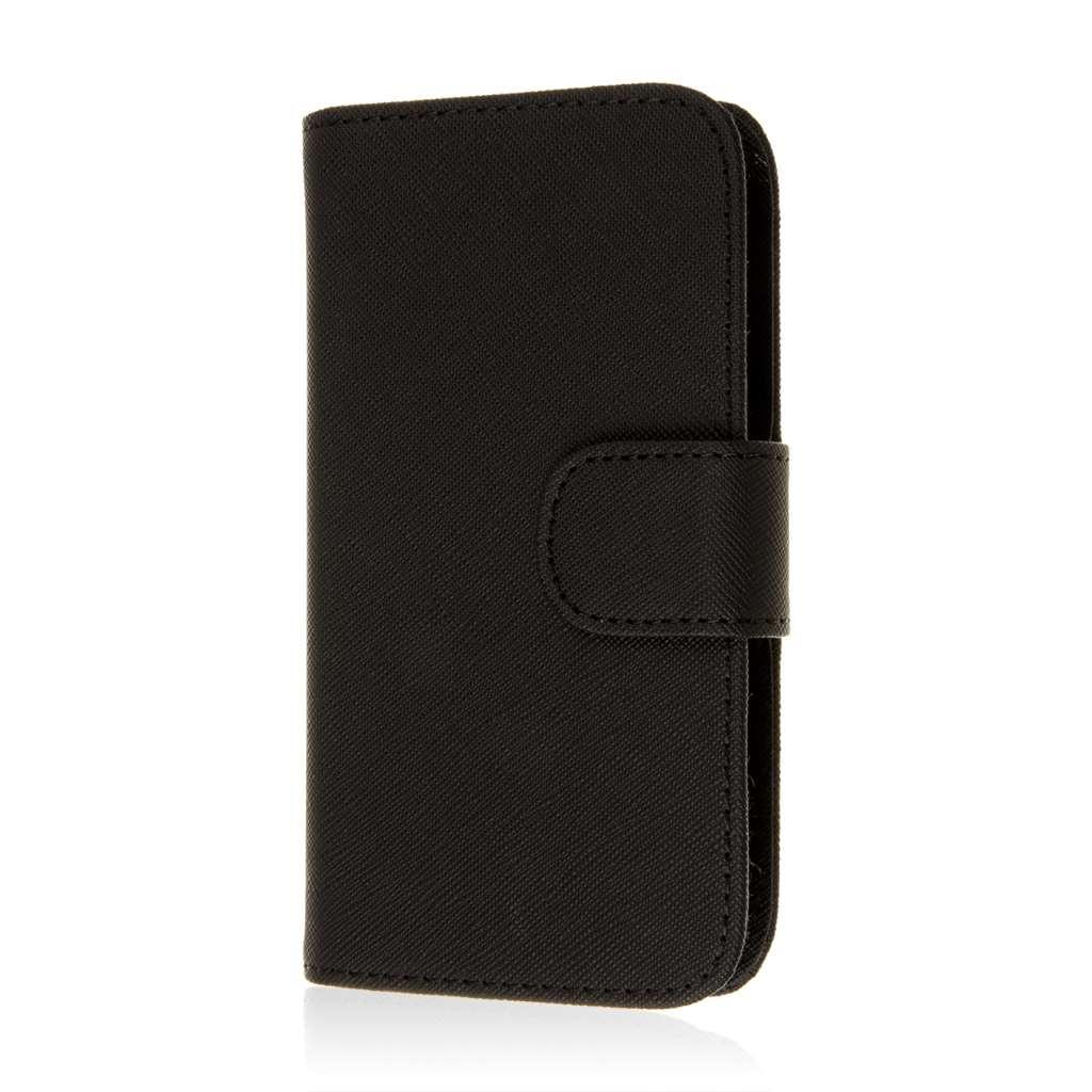Samsung Galaxy Avant - Black MPERO FLEX FLIP Wallet Case Cover