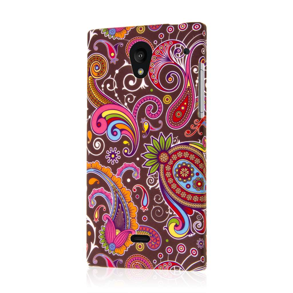 Sharp AQUOS Crystal - Black Paisley MPERO SNAPZ - Case Cover