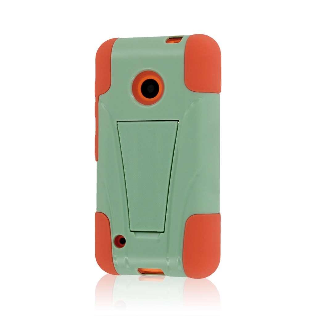Nokia Lumia 530 - Coral / Mint MPERO IMPACT X - Kickstand Case Cover