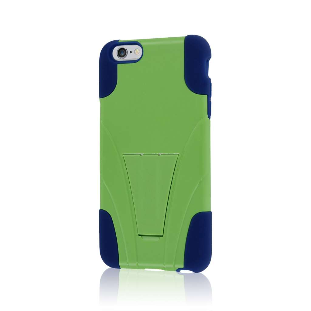Apple iPhone 6 6S Plus - Blue / Green MPERO IMPACT X - Kickstand Case Cover