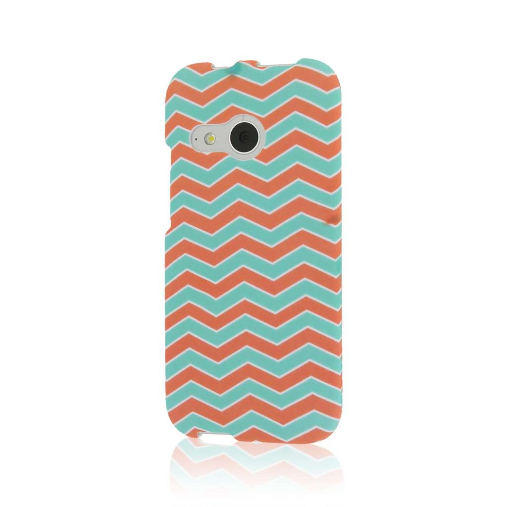 HTC One Mini 2 - Mint Chevron MPERO SNAPZ - Case Cover