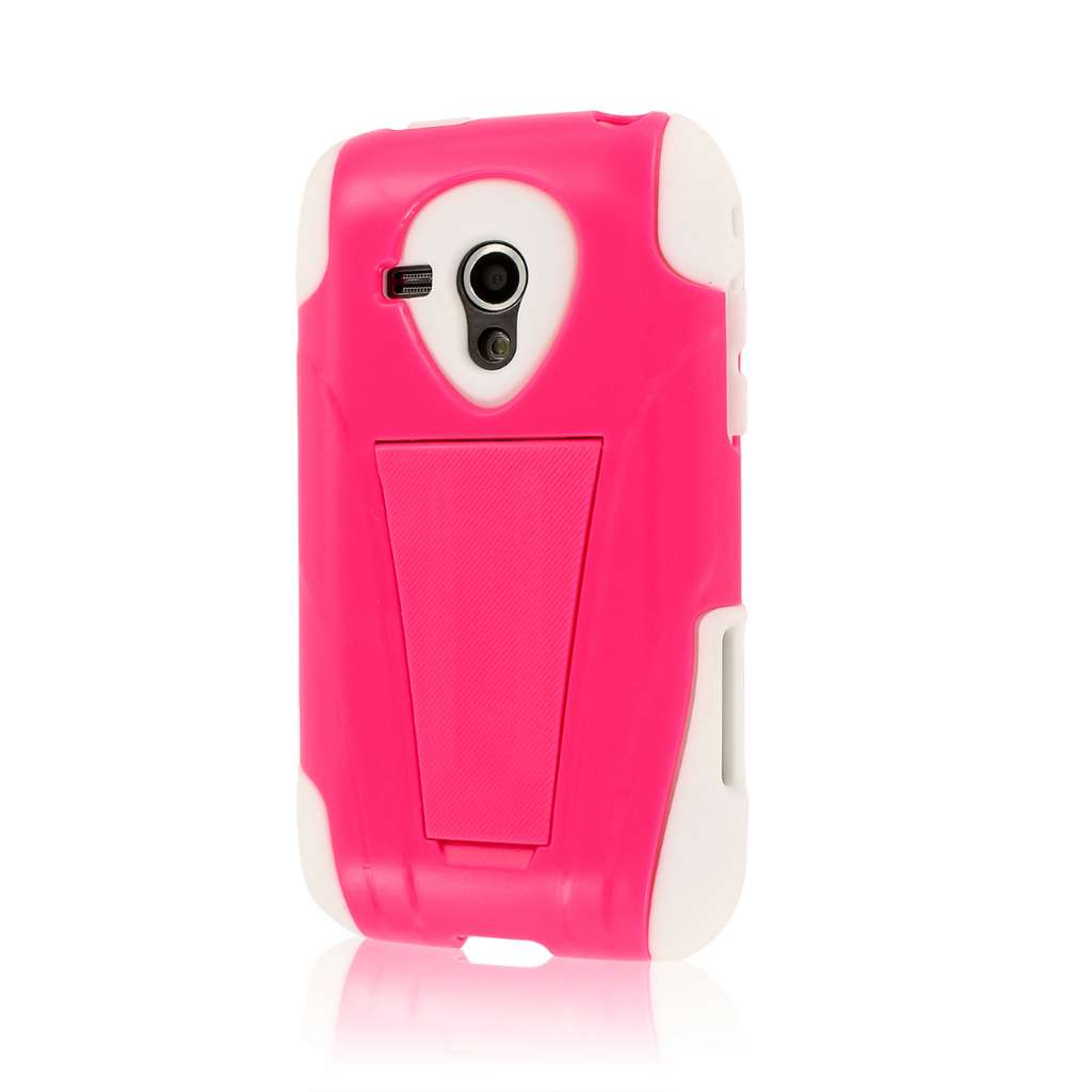 Samsung Galaxy Rush- HOT PINK MPERO IMPACT X - Kickstand Case Cover