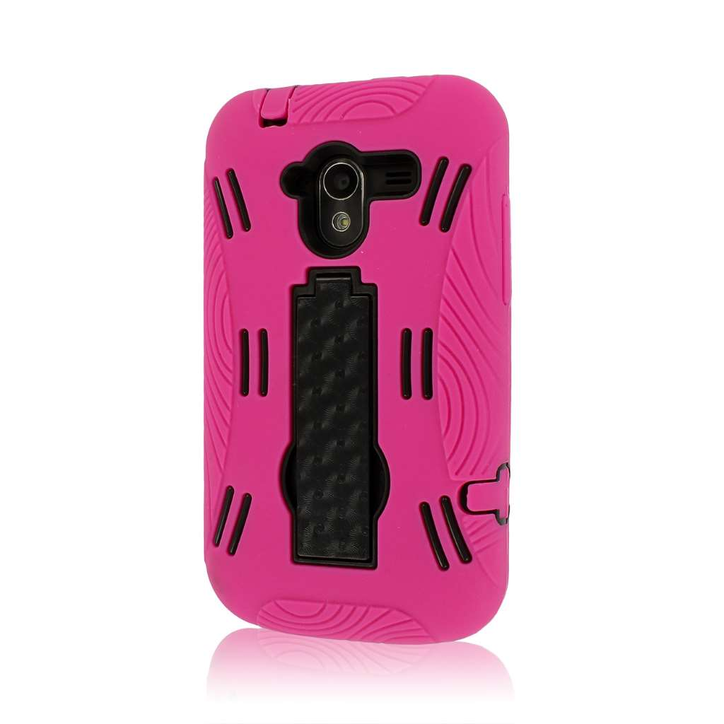 ZTE Avid 4G N9120 - Hot Pink MPERO IMPACT XL - Kickstand Case Cover