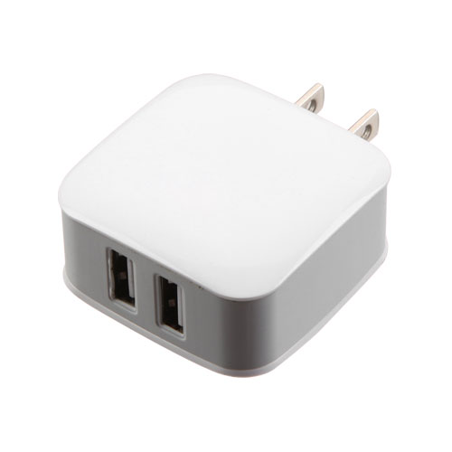 Dual 2 Usb Travel Wall Home Charger Adapter 2 1a Fast