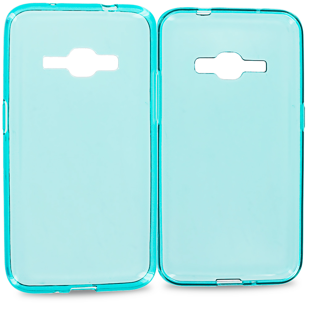 For Samsung Galaxy J1 2016 / Amp 2 / Express 3 / Luna S120 Baby Blue TPU Rubber Skin Case Cover