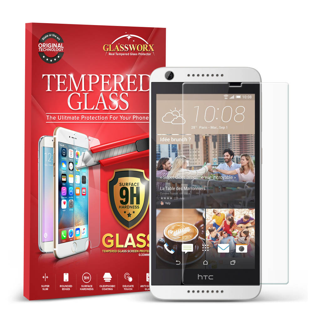 HTC Desire 626 / 626s GlassWorX HD Clear Tempered Glass Screen Protector