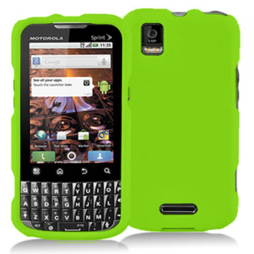 Motorola Xprt Neon Green Hard Rubberized Case Cover