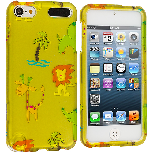 Apple iPod Touch 5th 6th Generation Zoo Hard Rubberized Design Case Cover
