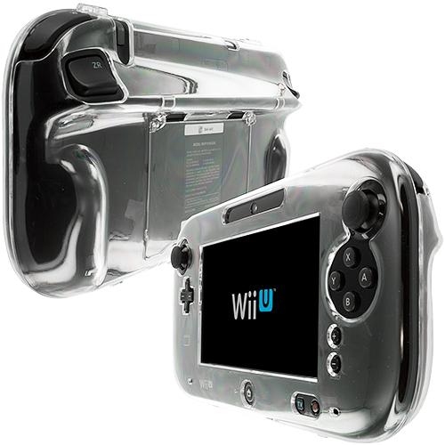 Nintendo Wii U Gamepad Controller Clear Crystal Transparent Hard Case Cover