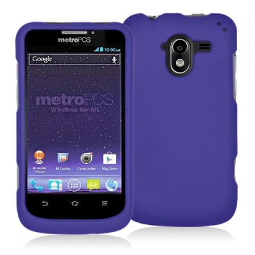 ZTE Avid 4G N9120 Purple Hard Rubberized Case Cover