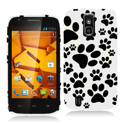 ZTE Force N9100 Dog Paw Hard Rubberized Design Case Cover