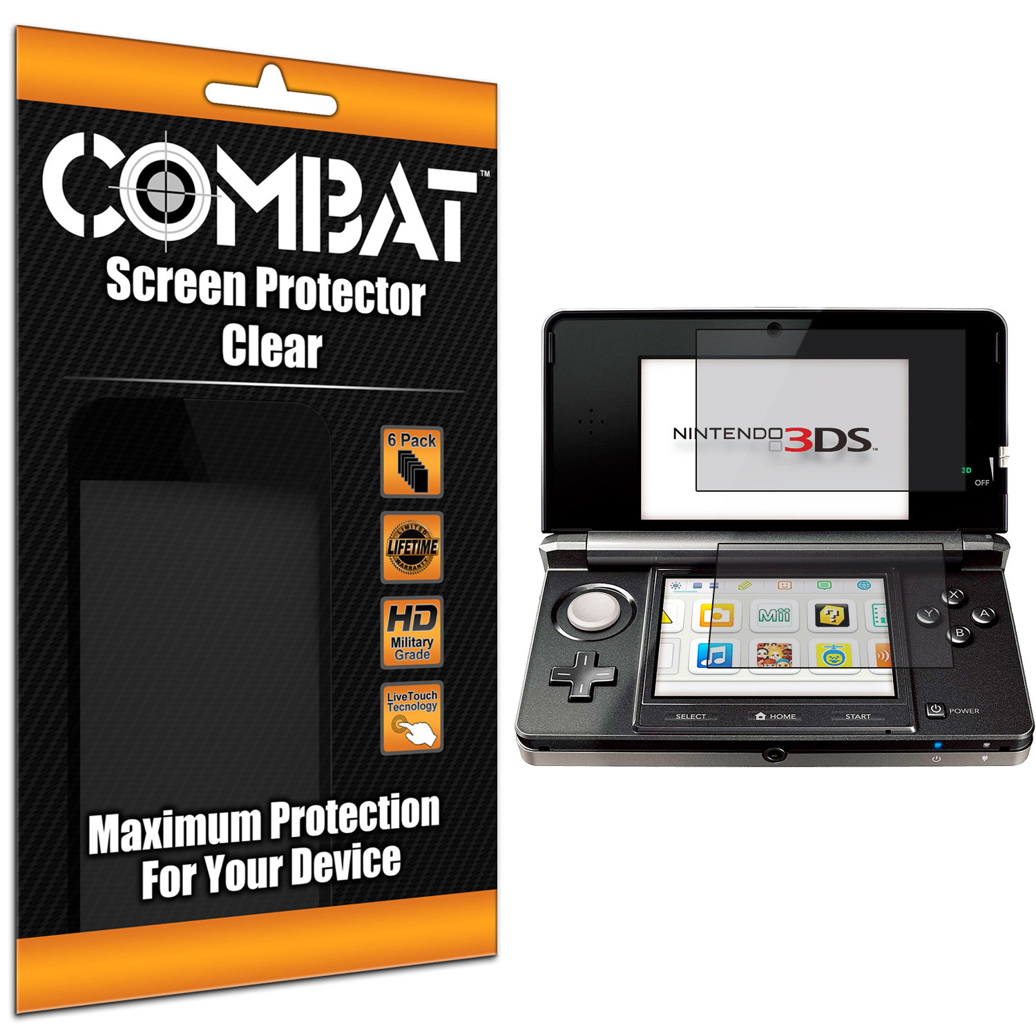 Nintendo 3DS Combat 6 Pack Anti-Glare Matte Screen Protector
