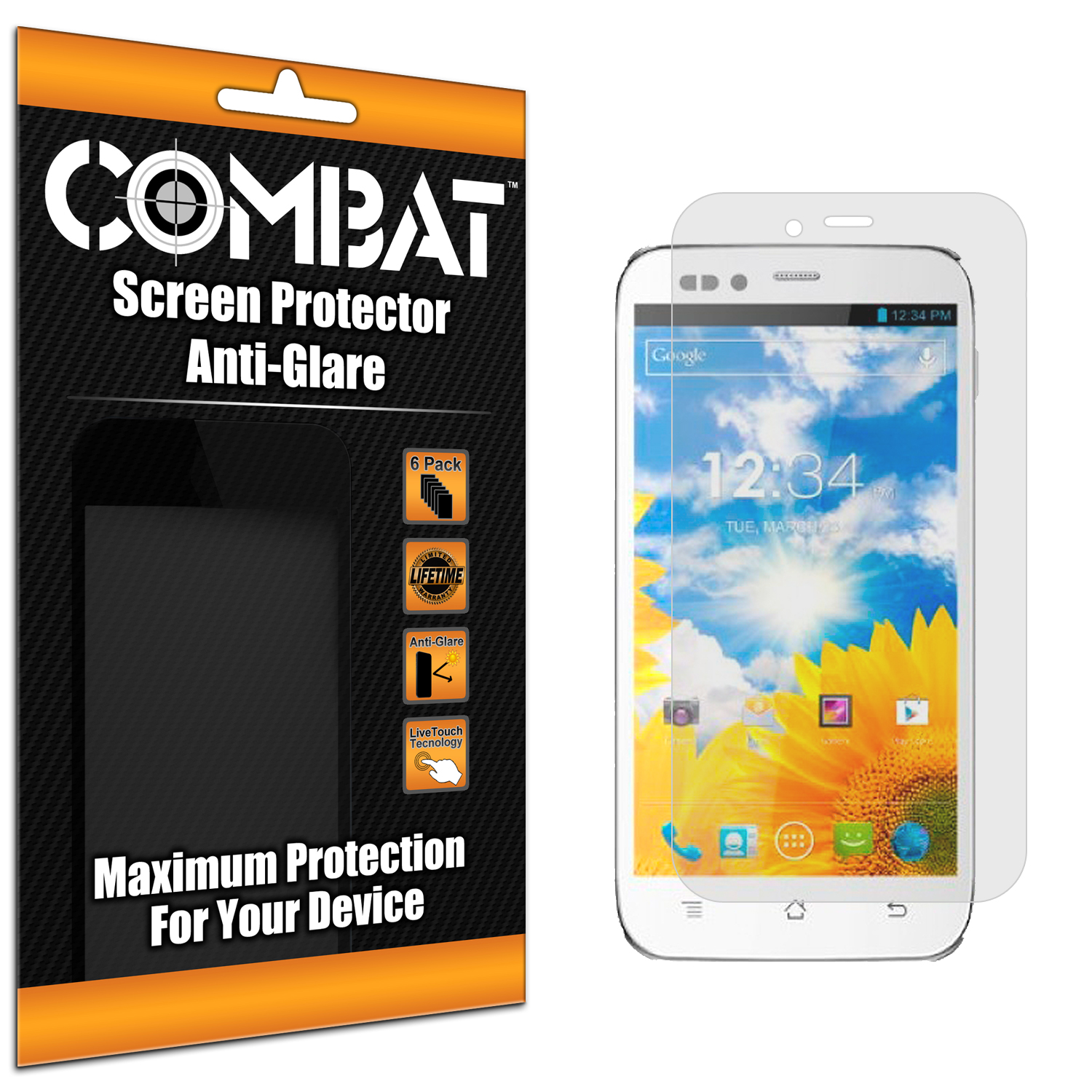 BLU Studio 5.0 Combat 6 Pack Anti-Glare Matte Screen Protector