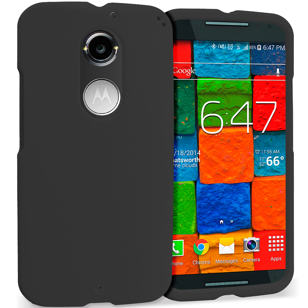 Motorola Moto X 2nd Gen Black Hard Rubberized Case Cover