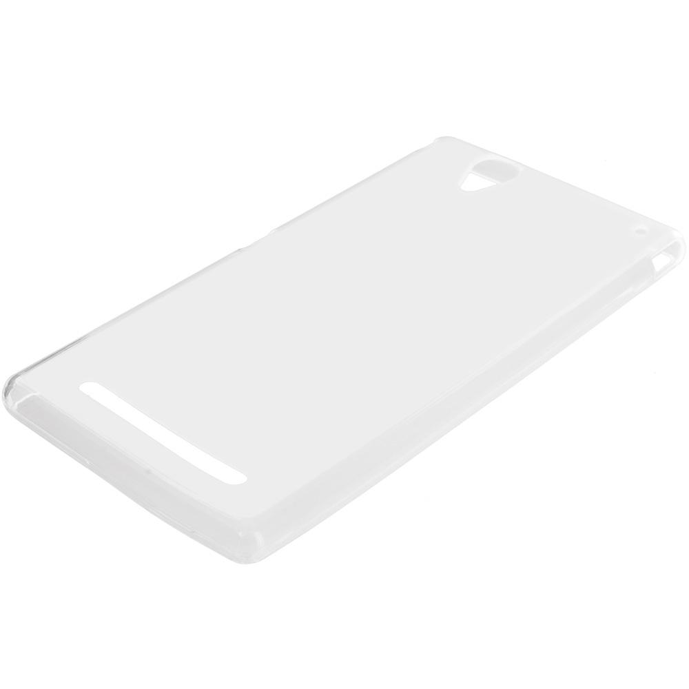 Sony Xperia T2 Ultra D5303 Clear TPU Rubber Skin Case Cover