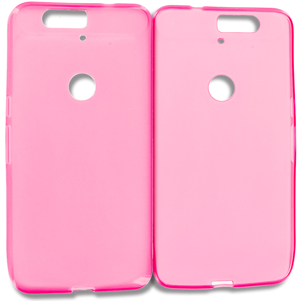Huawei Google Nexus 6P Hot Pink TPU Rubber Skin Case Cover