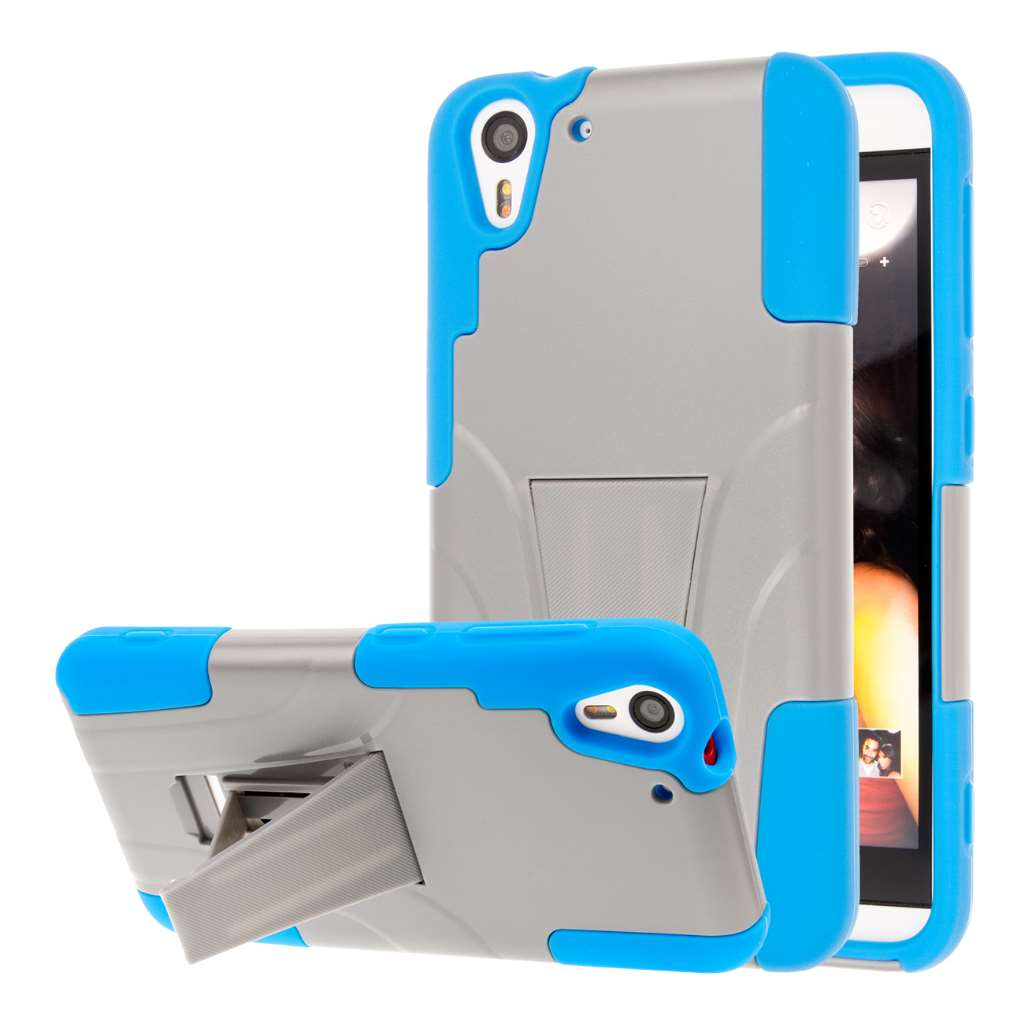 HTC Desire EYE - Blue / Gray MPERO IMPACT X - Kickstand Case Cover