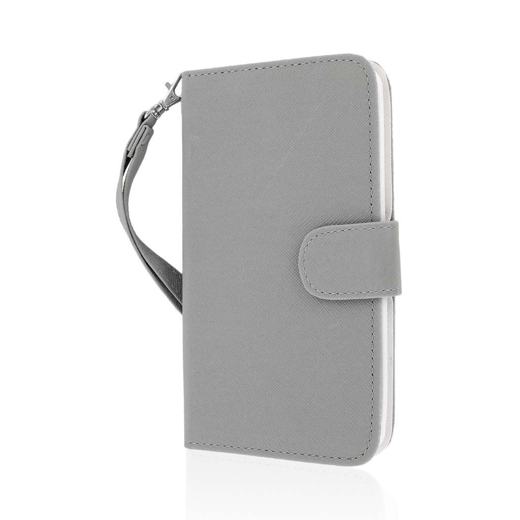 LG G Pro 2 - Gray MPERO FLEX FLIP Wallet Case Cover
