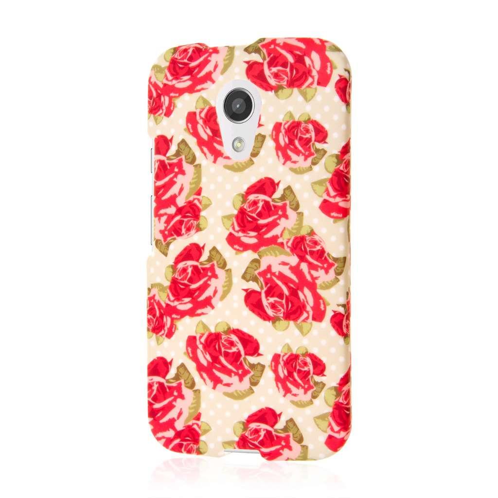 Motorola Moto G 2nd Gen 2014 - Vintage Red Roses MPERO SNAPZ - Case Cover