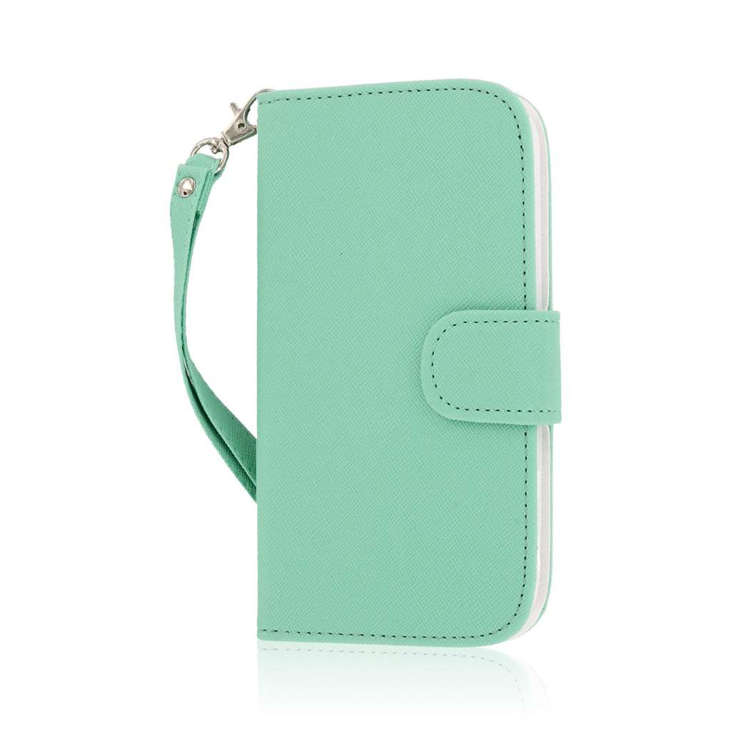 ZTE Grand X Z777 - Mint MPERO FLEX FLIP Wallet Case Cover