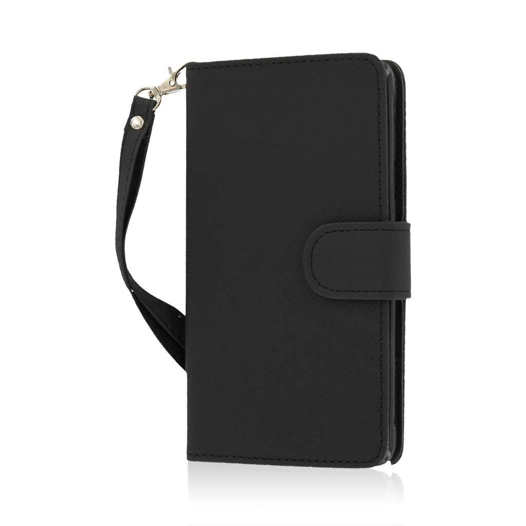 Samsung Galaxy Note 4 - Black MPERO FLEX FLIP Wallet Case Cover