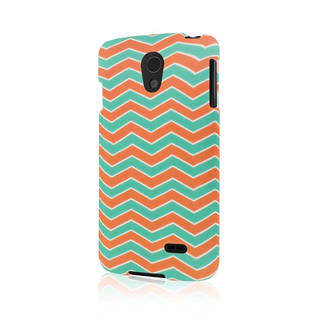 LG Lucid 3 - Mint Chevron MPERO SNAPZ - Case Cover
