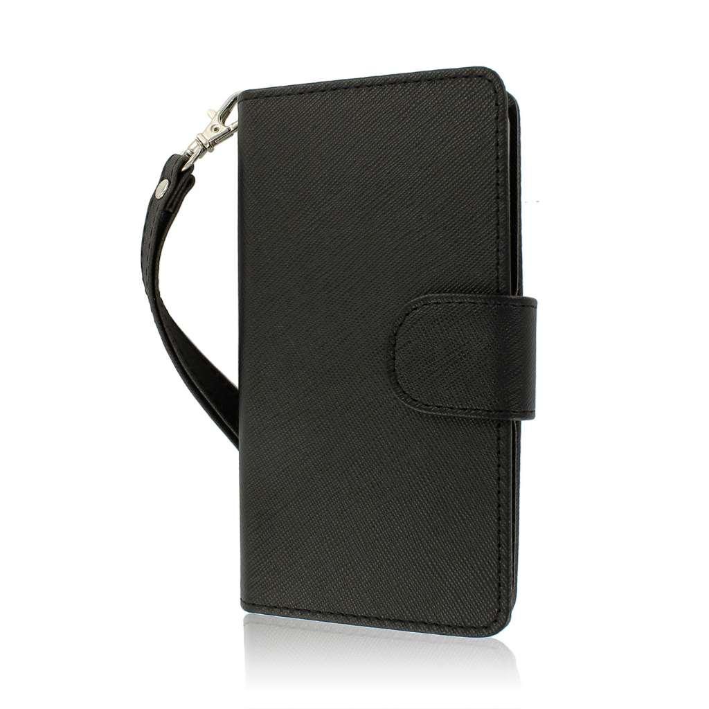 ZTE Warp 4G N9510 - Black MPERO FLEX FLIP Wallet Case Cover
