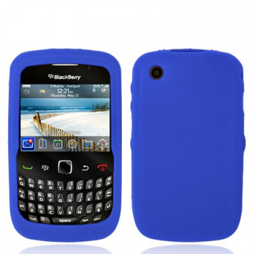 BlackBerry Curve 8520 8530 3G 9300 9330 Blue Silicone Soft Skin Case Cover