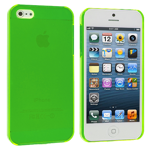 Apple iPhone 5/5S/SE Green Crystal Hard Back Cover Case