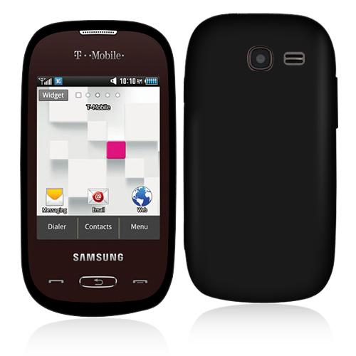 Samsung Gravity Q T289 Black Hard Rubberized Case Cover