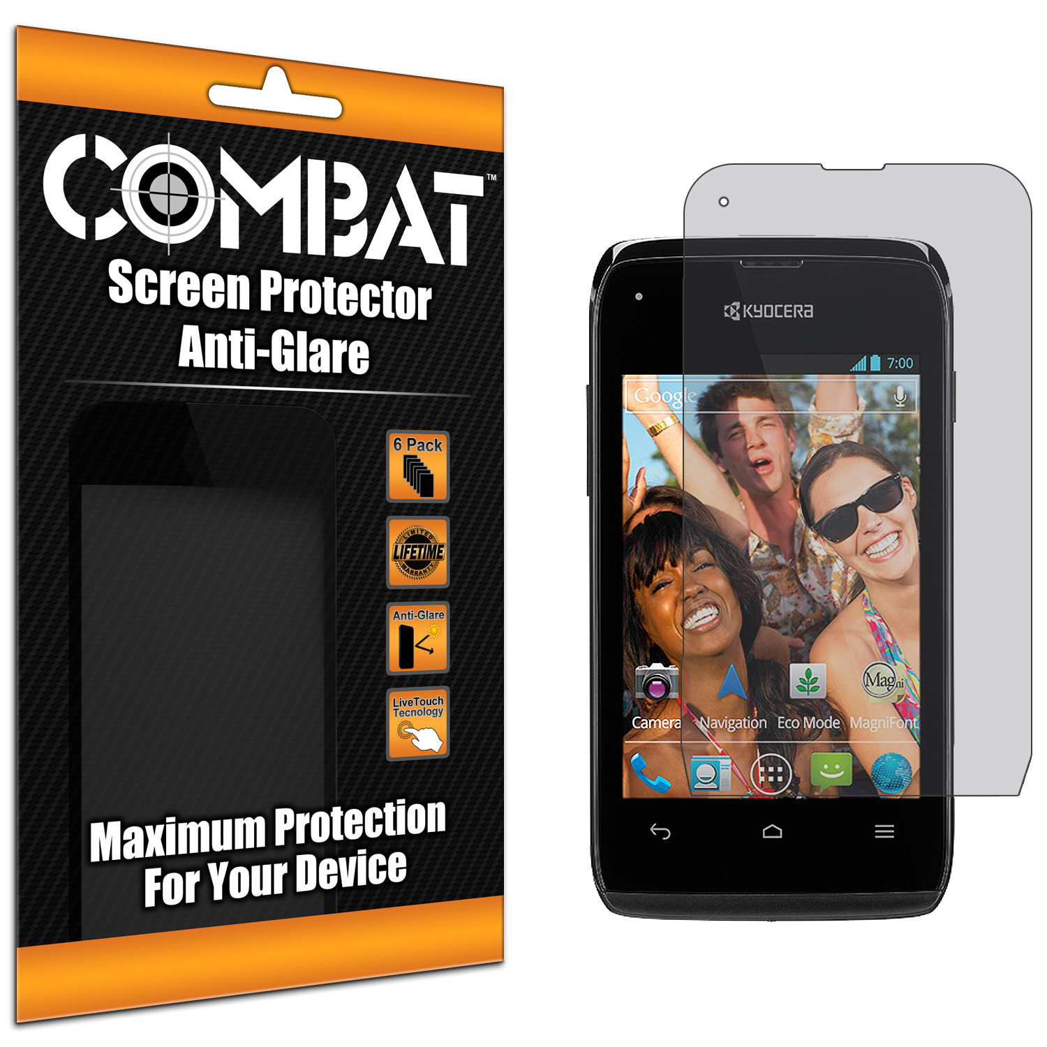 Kyocera Event C5133 Combat 6 Pack Anti-Glare Matte Screen Protector