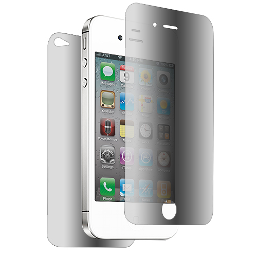 Apple iPhone 4 / 4S Mirror Front+Back LCD Screen Protector