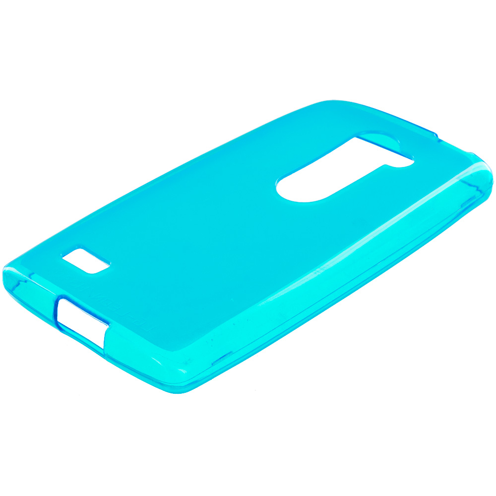 LG Tribute 2 Leon Power Destiny Baby Blue TPU Rubber Skin Case Cover