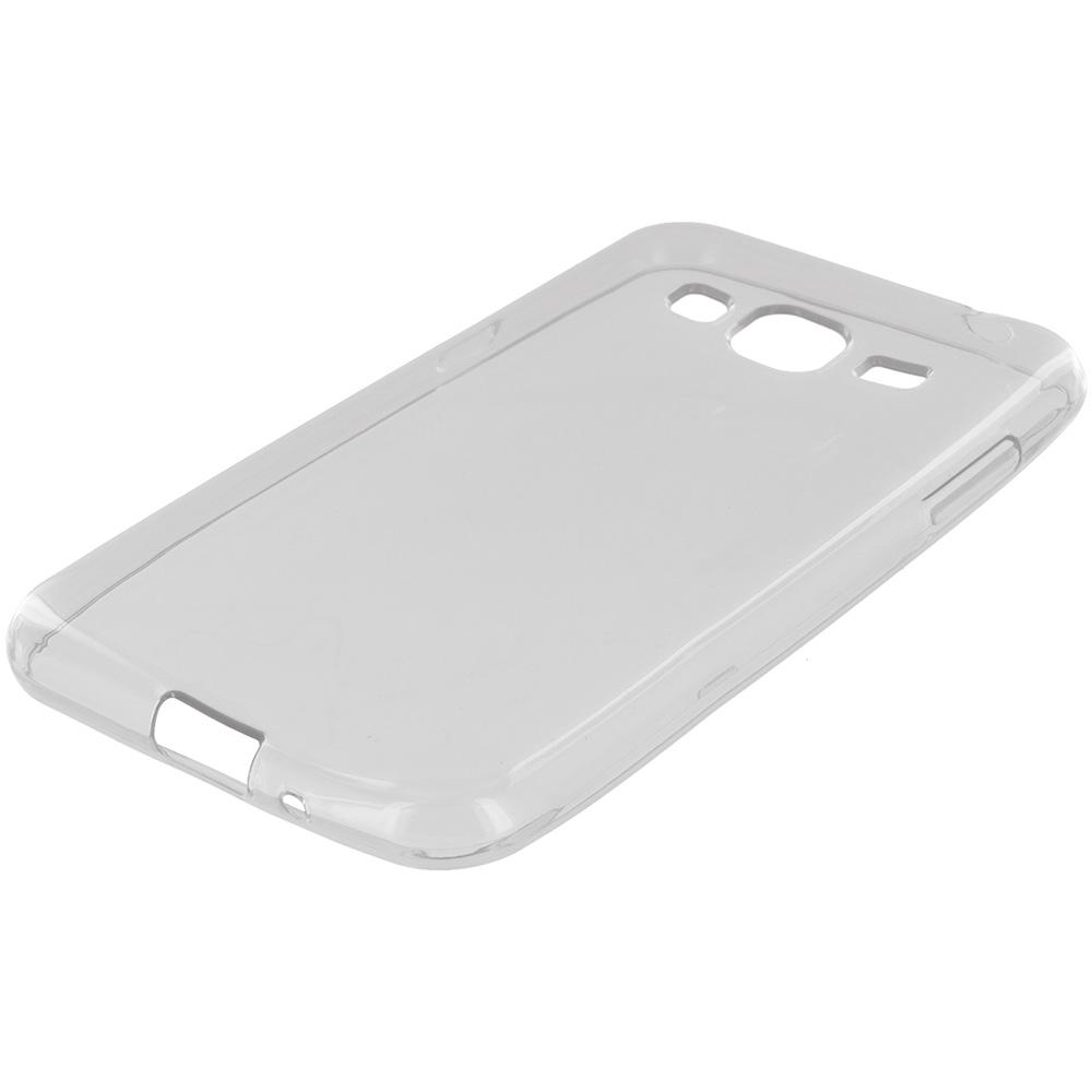 Samsung Galaxy J3 J320 / Amp Prime / Express Prime / J3V / SKY / SOL Clear TPU Rubber Skin Case Cover