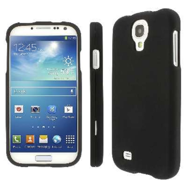 Samsung Galaxy S4 MPERO Full Protection Hard Rubberized Black Case Cover