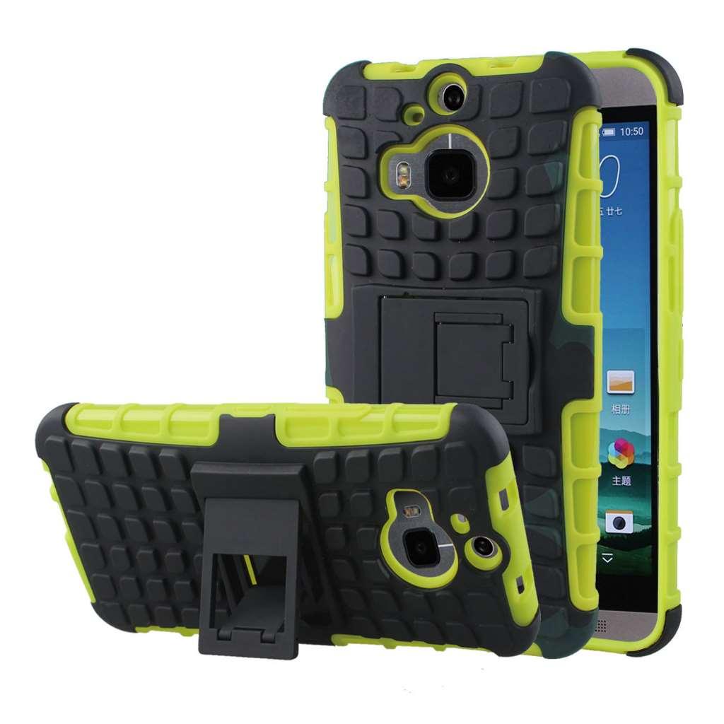 HTC One M9 Plus - Neon Green MPERO IMPACT SR - Kickstand Case Cover