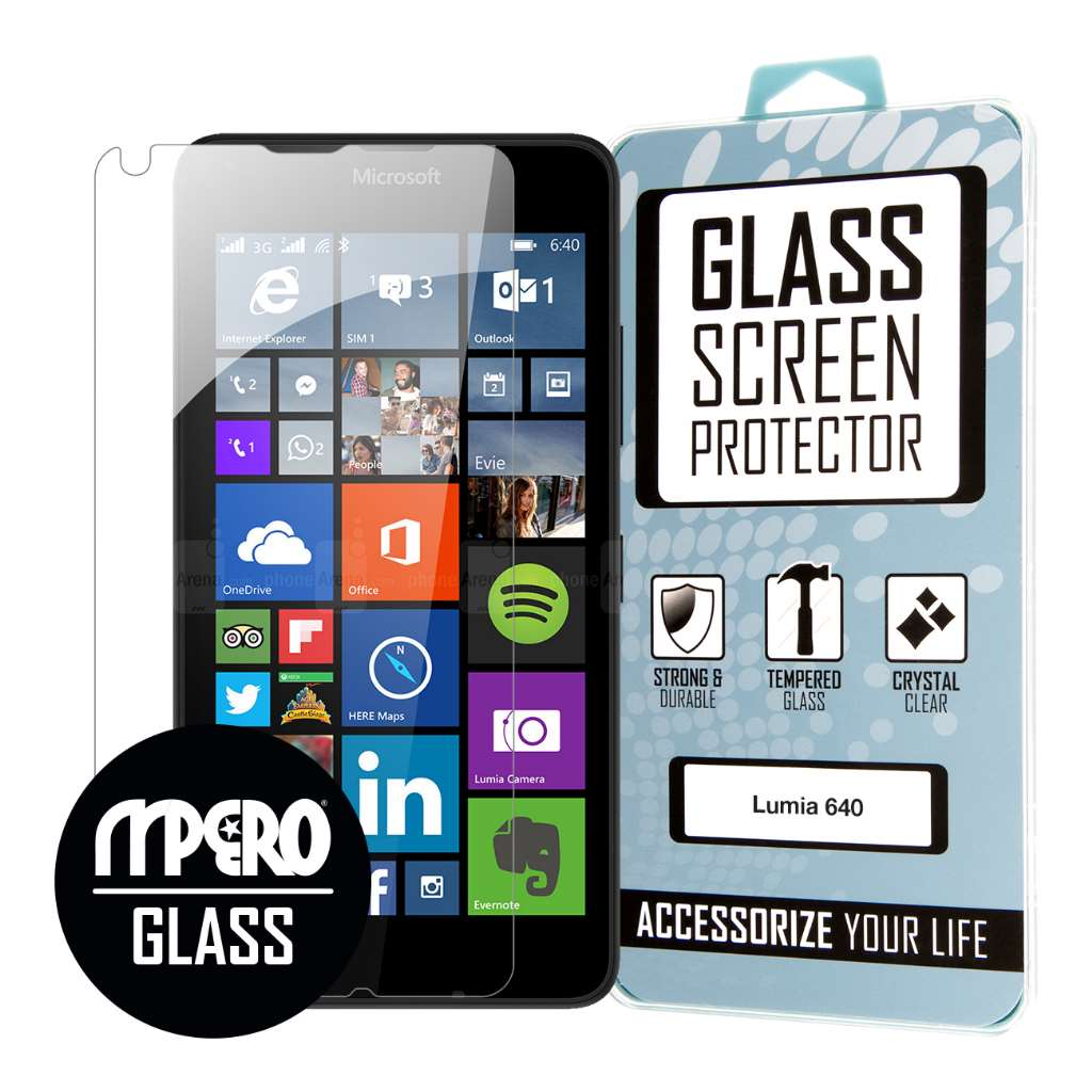 Microsoft Lumia 640 MPERO Tempered Glass Screen Protector