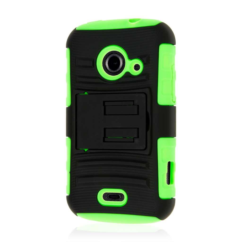 ZTE Prelude 2 - Neon Green MPERO IMPACT XT - Kickstand Case Cover