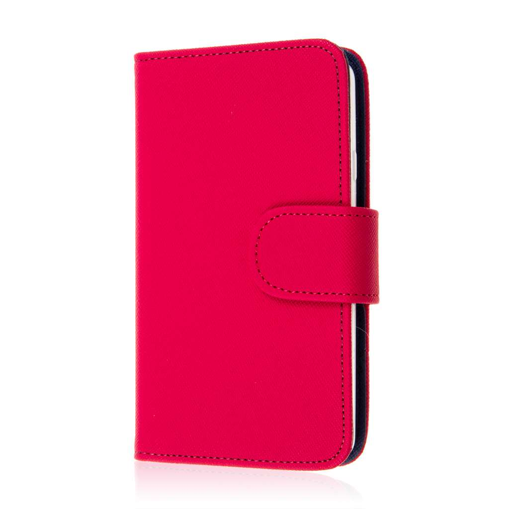 LG F60 - Hot Pink MPERO FLEX FLIP Wallet Case Cover