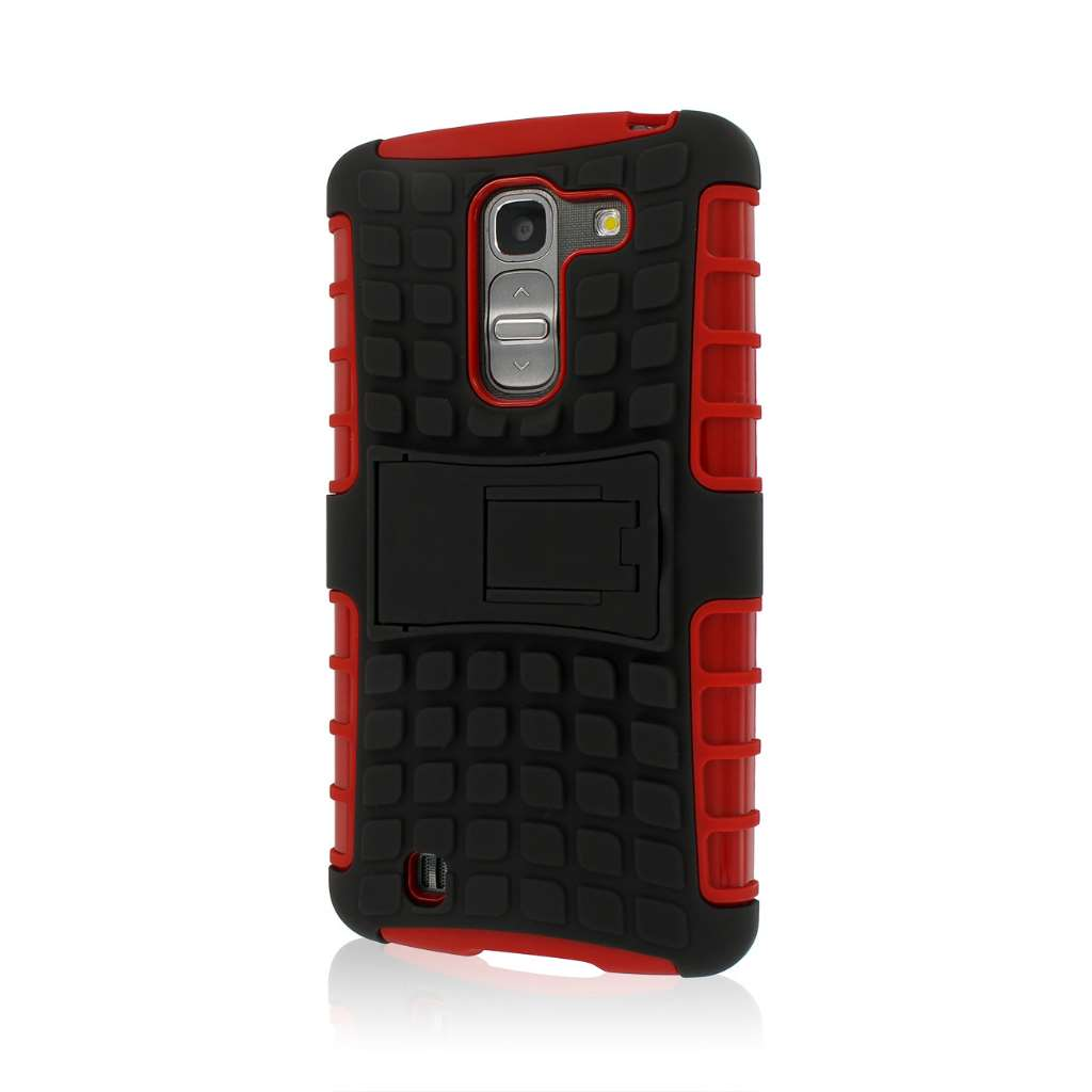 LG G Pro 2 - Red MPERO IMPACT SR - Kickstand Case Cover