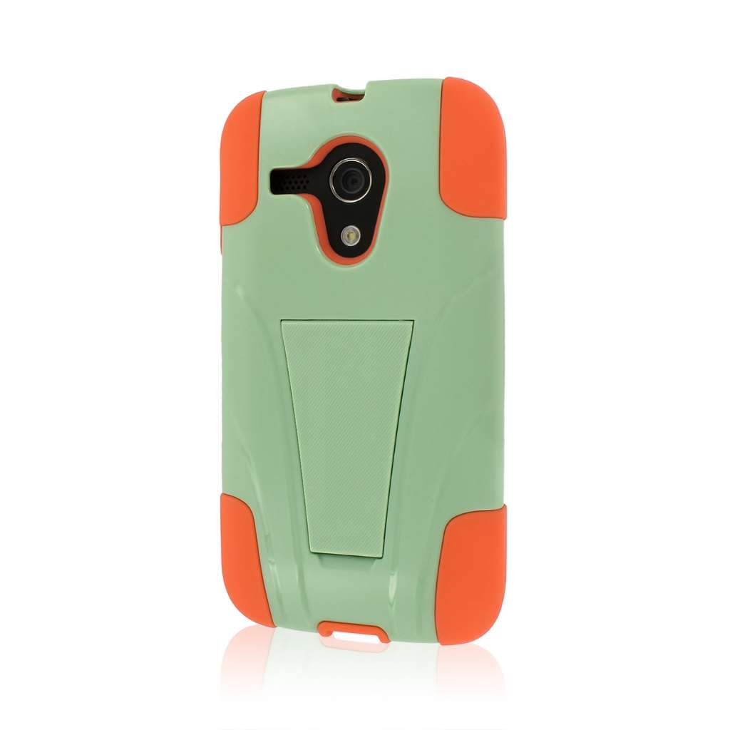 Motorola Moto G - Coral / Mint MPERO IMPACT X - Kickstand Case Cover